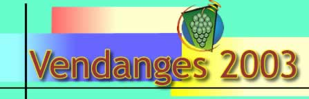 Logo vendanges 2003